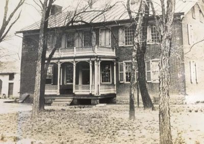 1894. Dirt line on the house caused by flood of 1892.