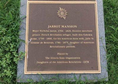 Jarrot Mansion plaque and designation.